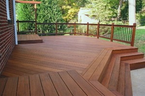 Deck made of ipé wood from South America