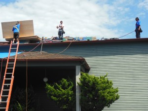 Our Roofing Team in Action